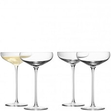 LSA Glassware - Wine Champagne Saucers Set Of 4