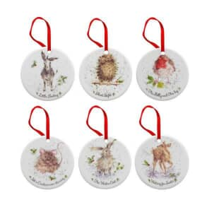 Wrendale Tree Decorations Set Of 6