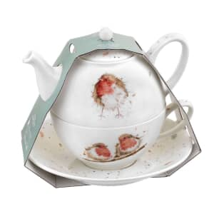 Wrendale Tea For One With Saucer Robin