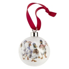 Wrendale Christmas Bauble All Wrapped Up