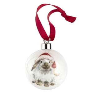 Wrendale Christmas Bauble Ho Ho Ho Rabbit