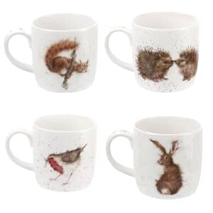Wrendale Wildlife Friends Set Of 4 Mugs