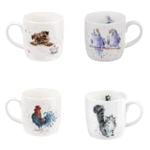 Wrendale Family Friends Mug Set Of 4