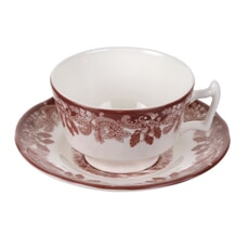 Spode Winters Scene Teacup And Saucer
