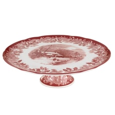 Spode Winters Scene Footed Cake Stand