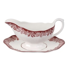 Spode Winters Scene Sauce Boat And Stand