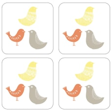 Portmeirion Catherine Lansfield - Scandi Birds Coasters Set Of 4