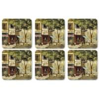 Portmeirion Pimpernel - Parisian Scenes Coasters Set Of 6