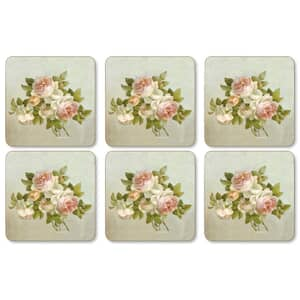 Portmeirion Pimpernel - Antique Roses Coasters Set Of 6