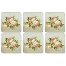 Portmeirion Pimpernel - Antique Roses Coasters Set Of 6