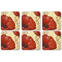 Portmeirion Pimpernel - Poppy De Villeneuve Coasters Set of 6