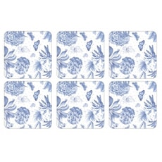 Portmeirion Botanic Blue - Coasters Set Of 6