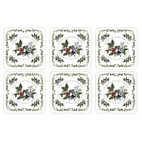 Portmeirion Holly and Ivy - Coasters Set Of 6