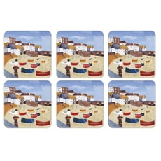 Portmeirion Pimpernel - St Ives Windbreak Coaster Set Of 6
