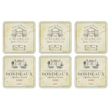 Portmeirion Pimpernel - Vin De France Coasters Set Of 6