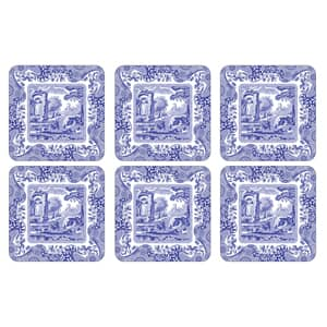 Spode Blue Italian - Coasters Set Of 6