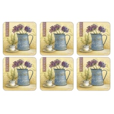 Portmeirion Pimpernel - Cafe Des Fleurs Coasters Set Of 6