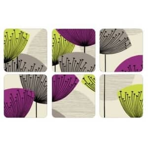 Portmeirion Pimpernel - Dandelion Clocks Coasters Set Of 6