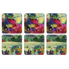 Portmeirion Pimpernel - Impressionist Flowers Coasters x 6