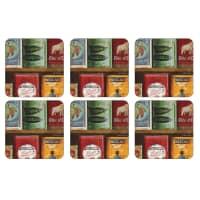 Portmeirion Pimpernel - Vintage Tins Coasters Set of 6
