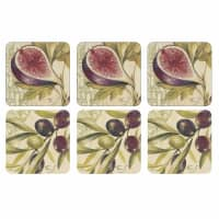 Portmeirion Pimpernel - Olives And Figs Coasters Set Of 6