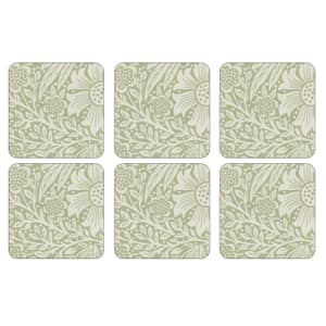 Portmeirion Pimpernel - Marigold Green Coasters Set Of 6