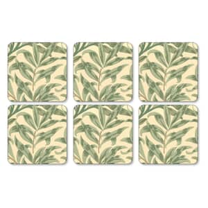 Portmeirion Pimpernel - Willow Boughs Green Coasters Set Of 6