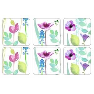 Portmeirion Water Garden - Coasters Set Of 6