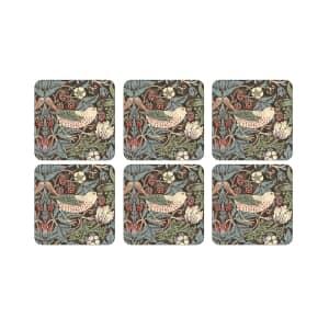 Spode Strawberry Thief - Coasters Set Of 6