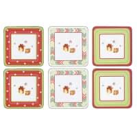 Spode Christmas Jubilee Coasters - Set Of 6