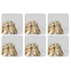 Wrendale Owl Coasters Set Of 6