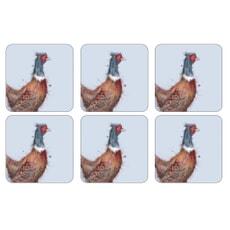 Wrendale Pheasant Coasters Set Of 6