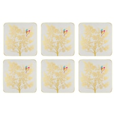 Sara Miller Chelsea Collection - Coasters Set of 6 Light Grey