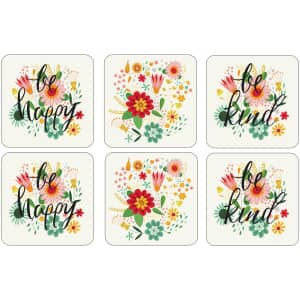 Portmeirion Pimpernel - Groovy Floral Coasters Set Of 6
