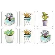 Portmeirion Pimpernel - Succulents Coasters Set Of 6