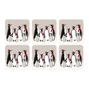 Sara Miller Penguin Christmas Collection - Coasters Set Of 6