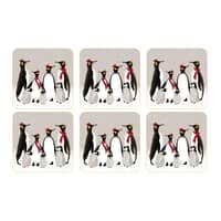 Sara Miller Penguin Christmas Collection - Coasters Set Of 6