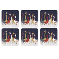 Sara Miller Geese Christmas Collection - Coasters Set Of 6