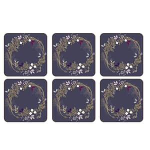 Sara Miller Garland Christmas - Coasters Set Of 6