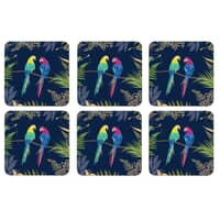 Sara Miller Parrot Collection - Coasters Set Of 6