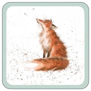 Wrendale Coaster Artful Poarcher Fox - Single