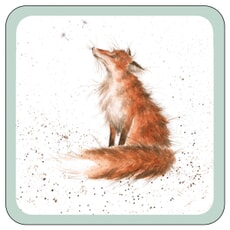 Wrendale Coaster Artful Poarcher Fox - Single