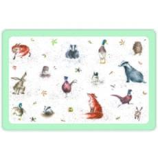 Wrendale Country Animals Plastic Pet Placemet