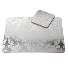Portmeirion Pimpernel - Damask Silver Placemats Set Of 4