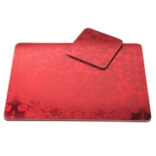 Portmeirion Pimpernel - Damask Red Placemats Set Of 4