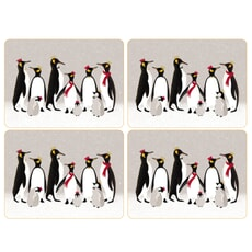 Sara Miller Penguin Christmas Collection - Placemats Set Of 4