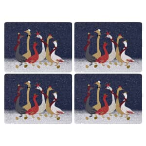 Sara Miller Geese Christmas Collection - Placemats Set Of 4