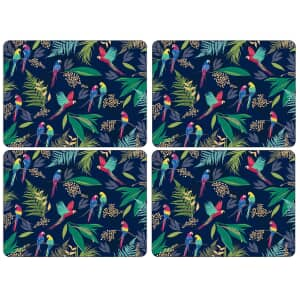 Sara Miller Parrot Collection - Placemats Set Of 4