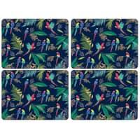 Sara Miller Parrot Collection - Placemats Set Of 4