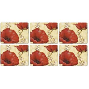 Portmeirion Pimpernel - Poppy De Villeneuve Placemats Set of 6